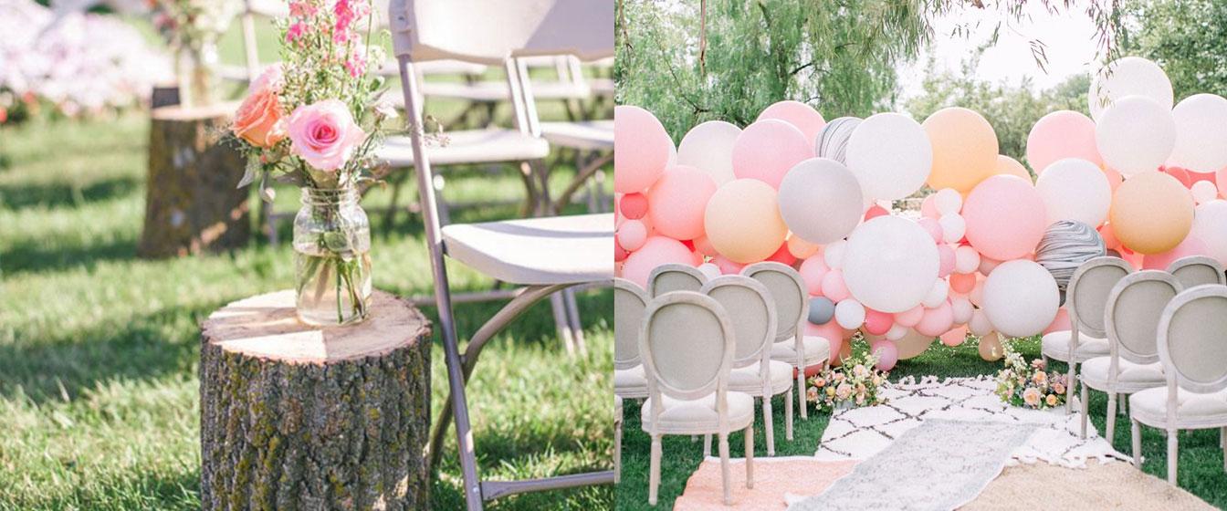 Dış mekanda düğün yapacaklar için 5 yaratıcı fikir